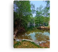 Romantic moments at the lake | waterscape photography Canvas Print