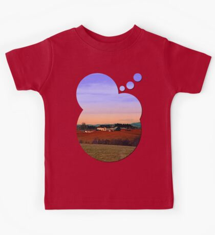 Countryside panorama in beautiful sunset colors | landscape photography Kids Tee