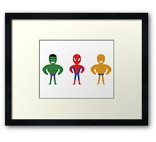 MARVEL HEROES Framed Print