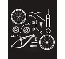 Bike Exploded, Bike Parts Full Suspension Airfix Photographic Print