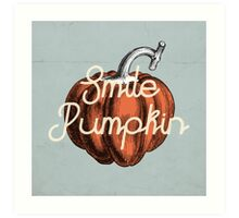 Smile Pumpkin Art Print