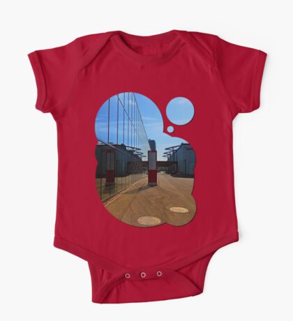 Modern glass window reflections | architectural photography One Piece - Short Sleeve