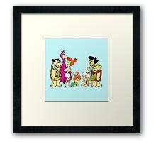 all familly Fred Flintstone Framed Print