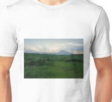 Sunset on green ~Mt. Fuji Unisex T-Shirt