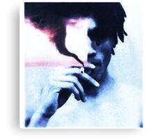 man smoke  Canvas Print