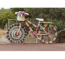 The Knitted Bike Photographic Print