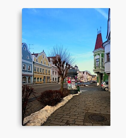 Pictoresque traditional village center | architectural photography Canvas Print