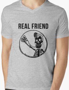real friends Mens V-Neck T-Shirt