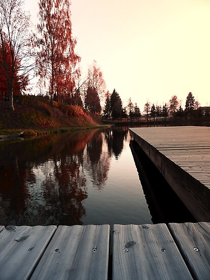 Romantic evening at the lake IV | waterscape photography by Patrick Jobst