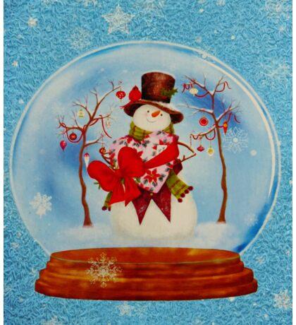 Snowman in a Snowglobe Sticker