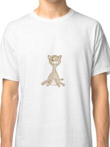 Giraffe, hand drawn, golden Classic T-Shirt