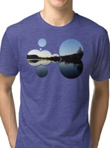 Indian summer sunset at the fishing lake IV | waterscape photography Tri-blend T-Shirt
