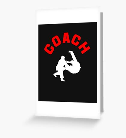 Judo Coach  Greeting Card