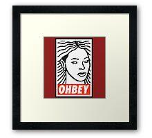 ohbey Framed Print