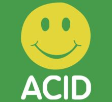 ACID HOUSE SMILEY FACE 90's Rave   2422 Kids Tee