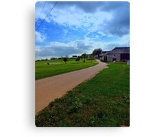Country road with cloudy sky | landscape photography Canvas Print