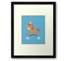 unicorn silly but happy Framed Print