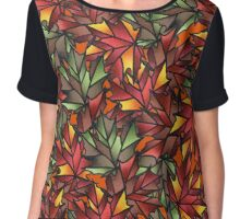 Maple Leaves for Fall Chiffon Top