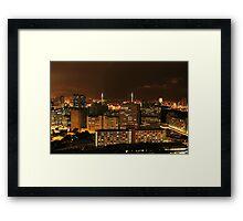 Kowloon at Night Framed Print