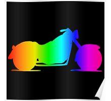 Rainbow Motorcycle #2 Poster