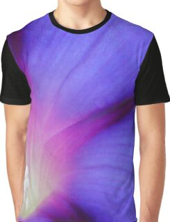 Macro of A Royal Purple Ipomoea Flower Graphic T-Shirt