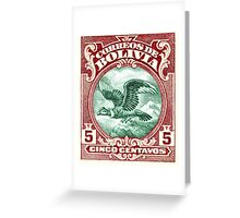 1928 Bolivia Andean Condor Postage Stamp Greeting Card
