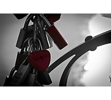 Love Padlocks Photographic Print