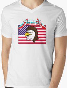 merica Mens V-Neck T-Shirt