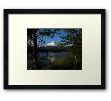 Mountain Views From The Lake ~ Part Two Framed Print