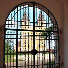 View through iron gates by zumi