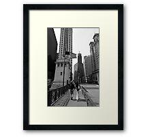 Chicago Stroll - Chicago USA Framed Print