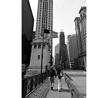 Chicago Stroll - Chicago USA Photographic Print