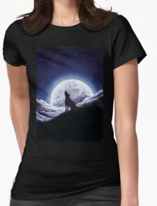 Howl... Womens Fitted T-Shirt
