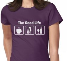 Women's Golf Funny Good Life Shirt Womens Fitted T-Shirt