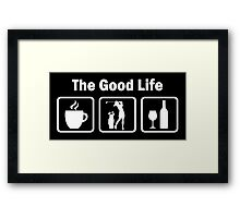 Women's Golf Funny Good Life Shirt Framed Print