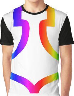 Rainbow Hammer Of Thor Graphic T-Shirt