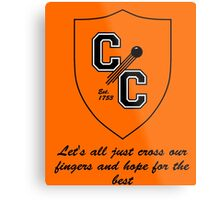 Chudley Cannons Logo with Motto Metal Print