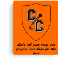 Chudley Cannons Logo with Motto Canvas Print