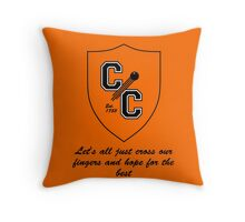 Chudley Cannons Logo with Motto Throw Pillow