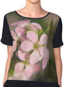 Pink Diosma flower Chiffon Top