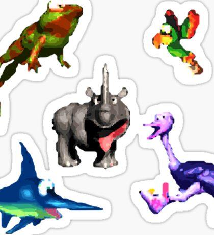 Donkey Kong Country - Animal Companions Sticker