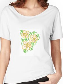 Floral Lemon Peel Women's Relaxed Fit T-Shirt