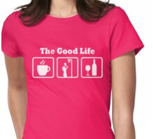 Netball Good Life Funny Girls Shirt Womens Fitted T-Shirt
