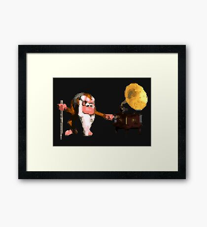Donkey Kong Country - Cranky's Phonograph Framed Print