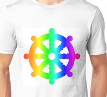 Rainbow Wheel Of Dharma Unisex T-Shirt