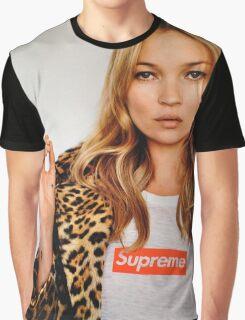 Kate Moss Supreme Graphic T-Shirt