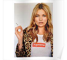 Kate Moss Supreme Poster