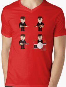 8-Bit Fab Four Mens V-Neck T-Shirt