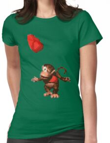Donkey Kong Country  - Wink Womens Fitted T-Shirt