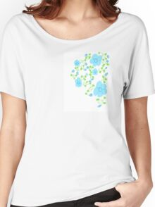 Pixie Dust Floral Blue Women's Relaxed Fit T-Shirt